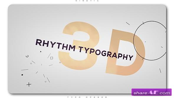 Videohive 3D Rhythm Typography Intro