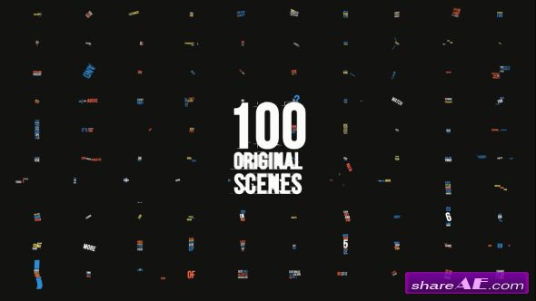 Videohive Dynamic Typography Pack [100 Titles] 4K 60 FPS