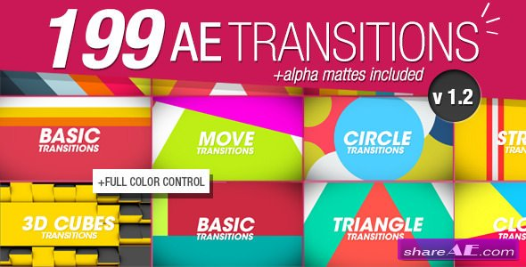 Videohive 199 Transitions Pack v1.2 - After Effects Project