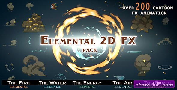 Videohive Elemental 2D FX pack [200 elements] - Motion Graphics