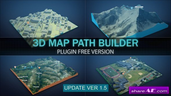 Videohive 3D Map Path Builder