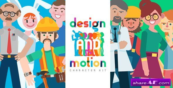 Videohive Design and Motion Character Kit v2