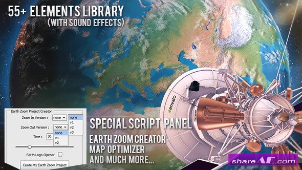 Videohive Earth Zoom Pro Kit