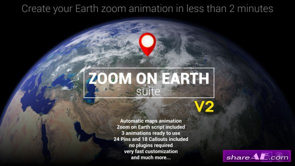 Videohive Zoom On Earth Suite V2