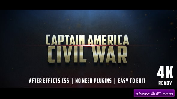 Videohive Civil War Cinematic Trailer