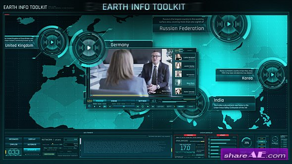 Videohive Earth Info Toolkit