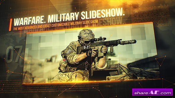 Videohive Warfare Military Slideshow