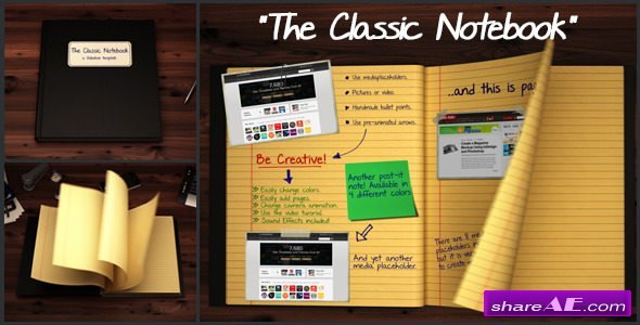 Videohive The Classic Notebook
