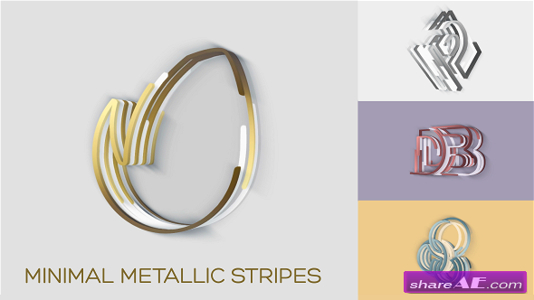Videohive Minimal Metallic Stripes Reveals