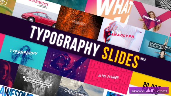 Videohive Typography Slides