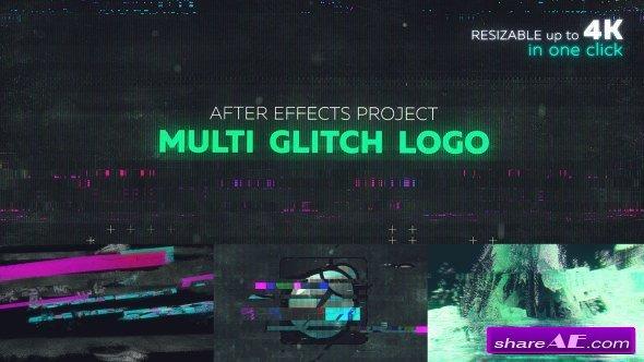 Videohive Glitch Logo 21142729