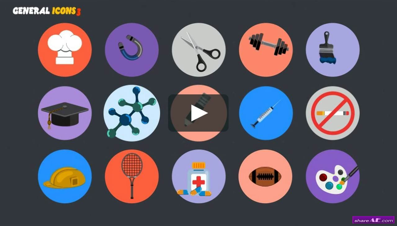 Icons Free After Effects Templates After Effects Intro Template