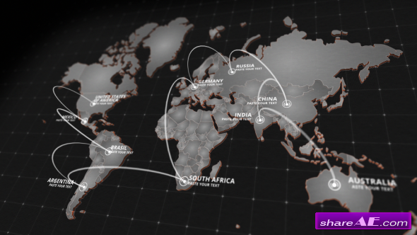 World free after effects templates after effects intro videohive world map kit 20592273 gumiabroncs Choice Image
