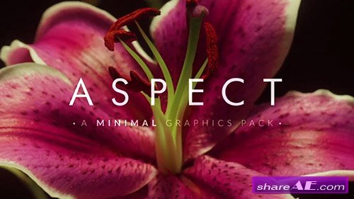 Aspect Minimal Graphic Elements - After Effects Template (RocketStock)