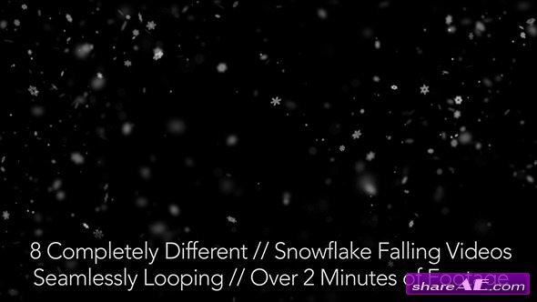 Videohive Snow Falling - Motion Graphic