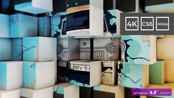 Videohive 3D Cubes Wall Slideshow in 4K