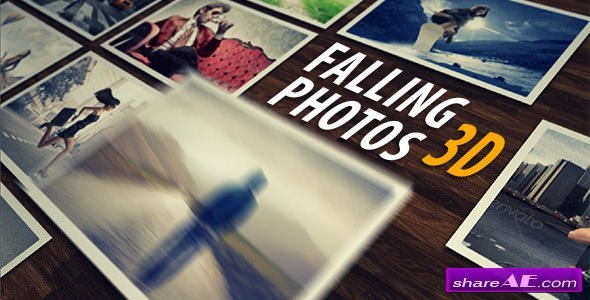 Videohive Falling Photos 3D