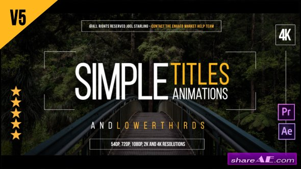 Videohive Gold Simple Titles v5.3