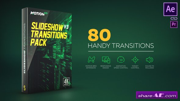 Videohive Slideshow Transitions Pack v4