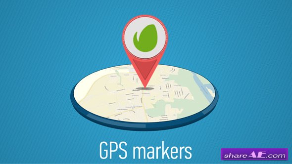 Videohive GPS Markers Map