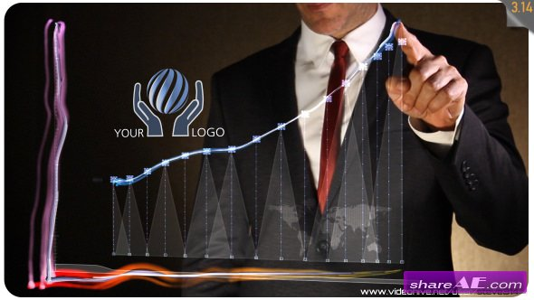 Videohive Business Chart - Logo Intro