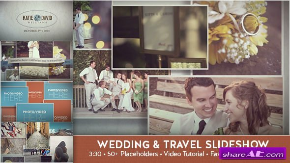 Videohive Wedding & Travel Slideshow