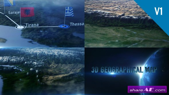 Videohive 3D Geographical Map