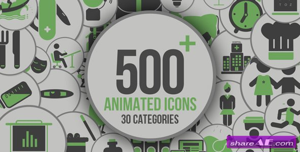 Videohive Animated Icons 500+