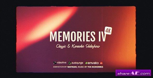 Videohive Memories IV - Classic & Karaoke Slideshow