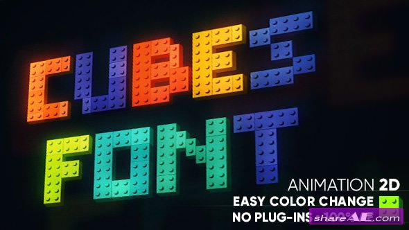 Videohive Cubes font