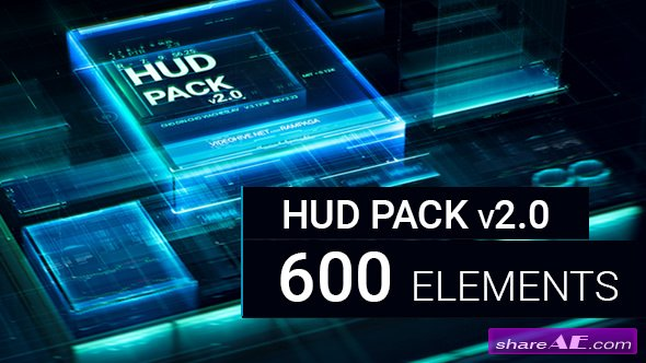 Videohive HUD Pack v2.0 - 600 elements