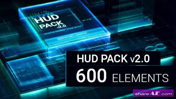 Videohive HUD Pack v2.0 - 600 elements