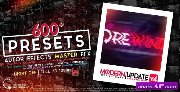 Videohive AUTHOR Effects Master FFX - After Effects Presets