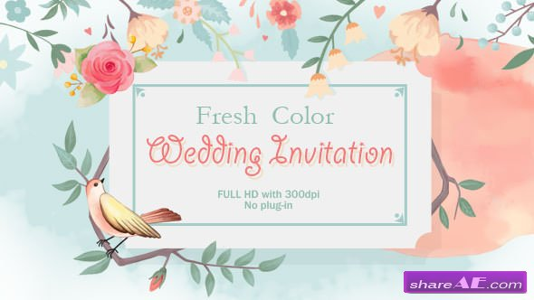 Videohive Fresh Color Wedding Invitation