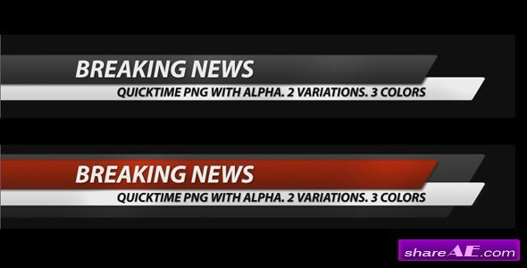 Videohive Breaking News Corporate Lower Third Pack (7 in 1)