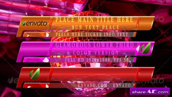 Videohive Glamoruos Lower Third
