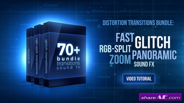Videohive 70+ Bundle: Glitch and RGB-split Transitions, Sound FX