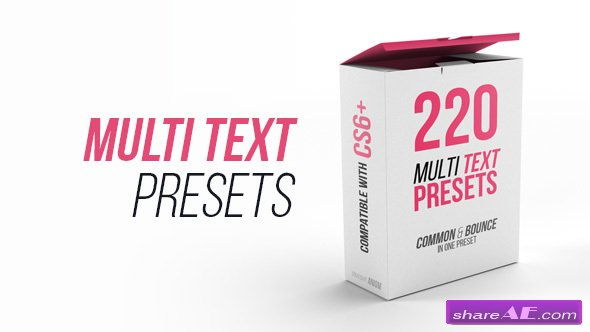 Videohive Multi Text Presets
