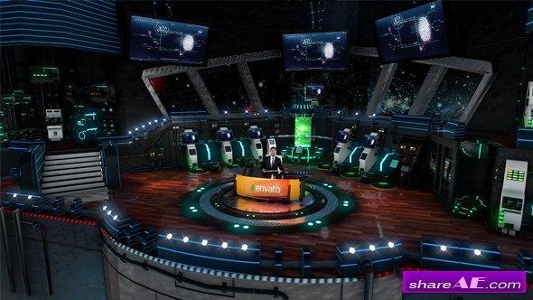 Videohive 3D Virtual Studio - Spaceship, Laborotory, Sci-fi