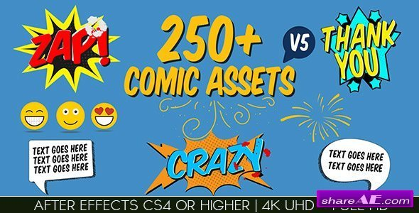 Videohive Comic FX / Speech Bubbles Graphic pack