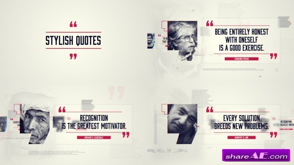 Videohive Stylish Quotes