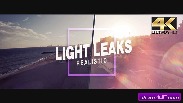 Videohive Real Light Leaks - Motion Graphics