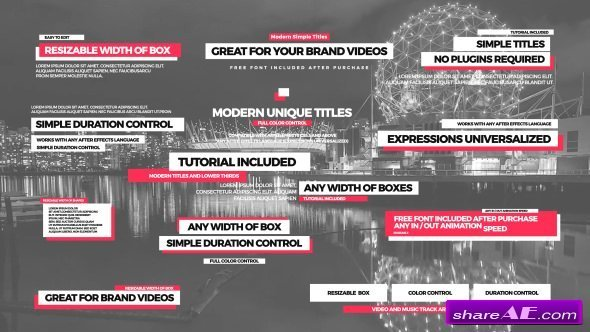 Videohive Simple Titles II