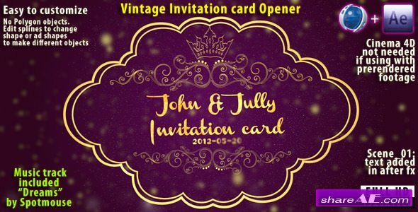 Videohive Vintage Invitation Card