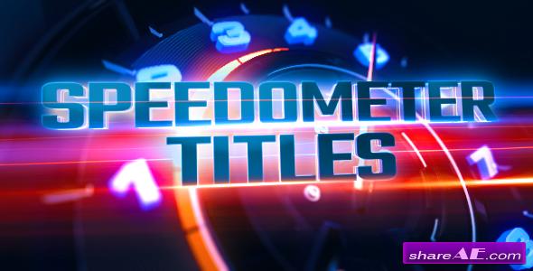 Videohive Speedometer Titles & Logo Revealer