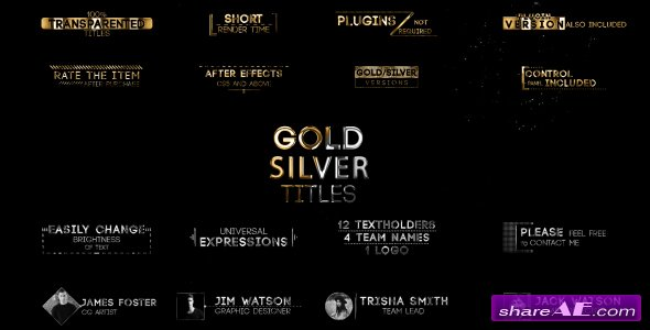 Videohive Golden Titles V.2