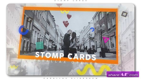 Videohive Stomp Cards Parallax Opener
