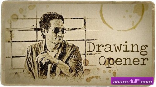 Drawing Opener - Premiere Pro Templates