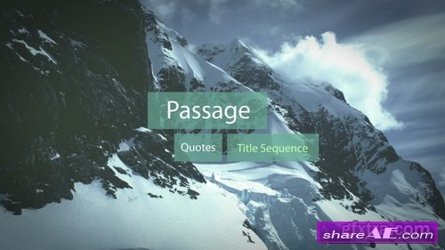 Passage - Quotes Title Sequence - After Effects Template (RocketStock)