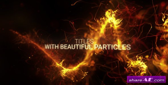 Videohive Abstract Particles Titles Trailer